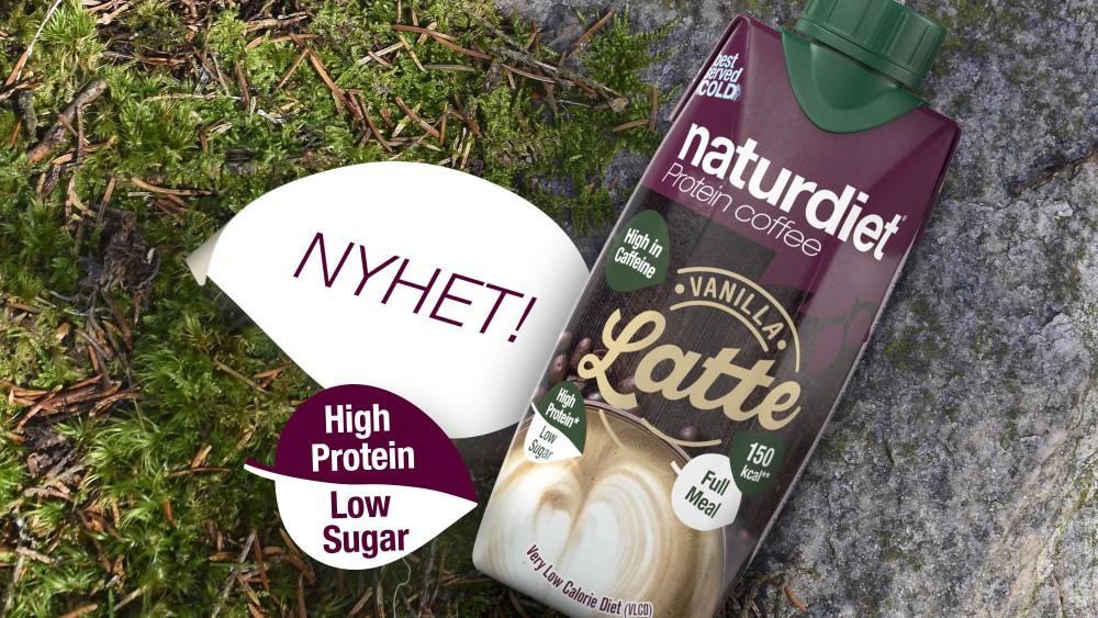 För alla kaffeälskare - Naturdiet lanserar Vanilla Latte, kaffe och shake i ett!