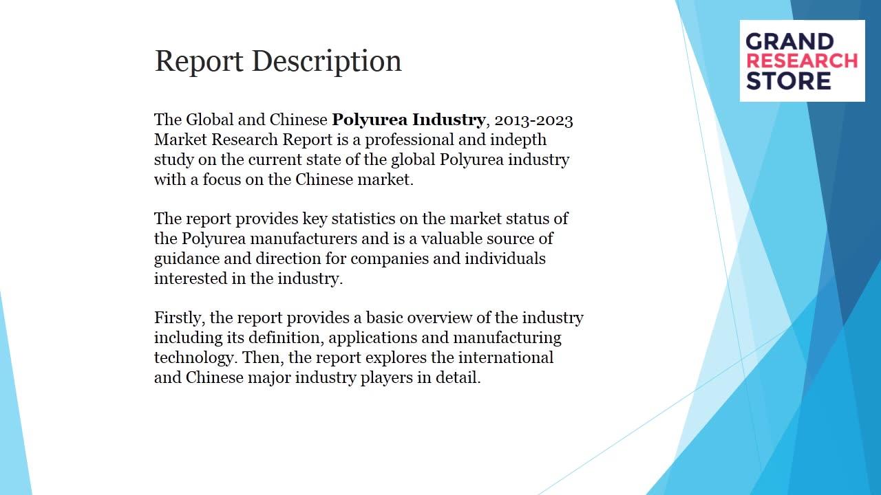 Polyurea industry market research report 2018
