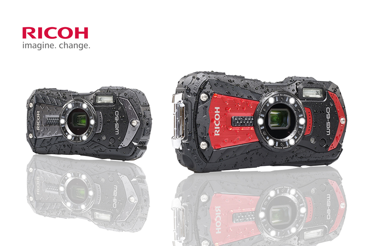 Uusi vedenkestävä Ricoh WG-60 -kamera