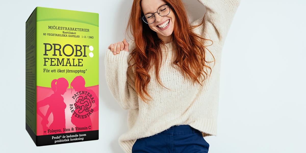 Sveriges mest köpta bakterietillskott* lanserar nu Probi Female!