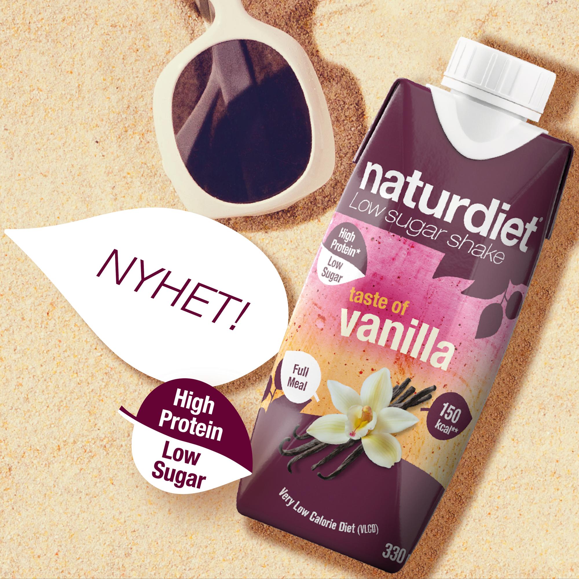 Naturdiet utökar sitt sortiment av shakes med favoritsmaken Vanilla