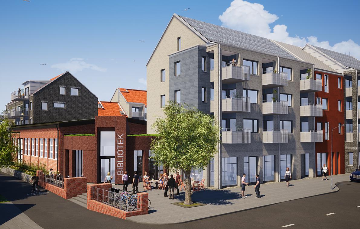Kvarteret Kryptan i Södra Sandby. Illustration: Fojab arkitekter