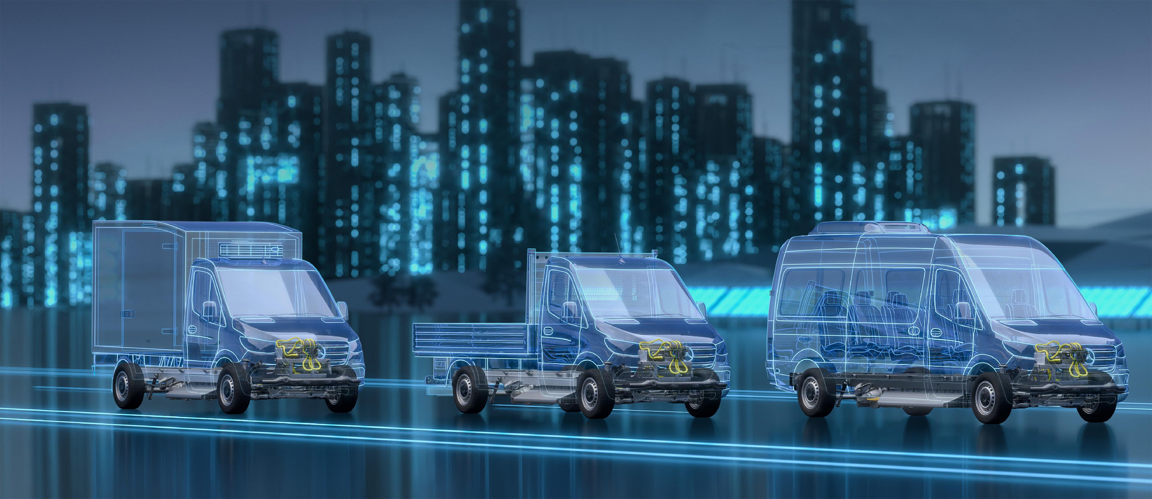 Ny plattform för nästa generations eldrivna Sprinter
