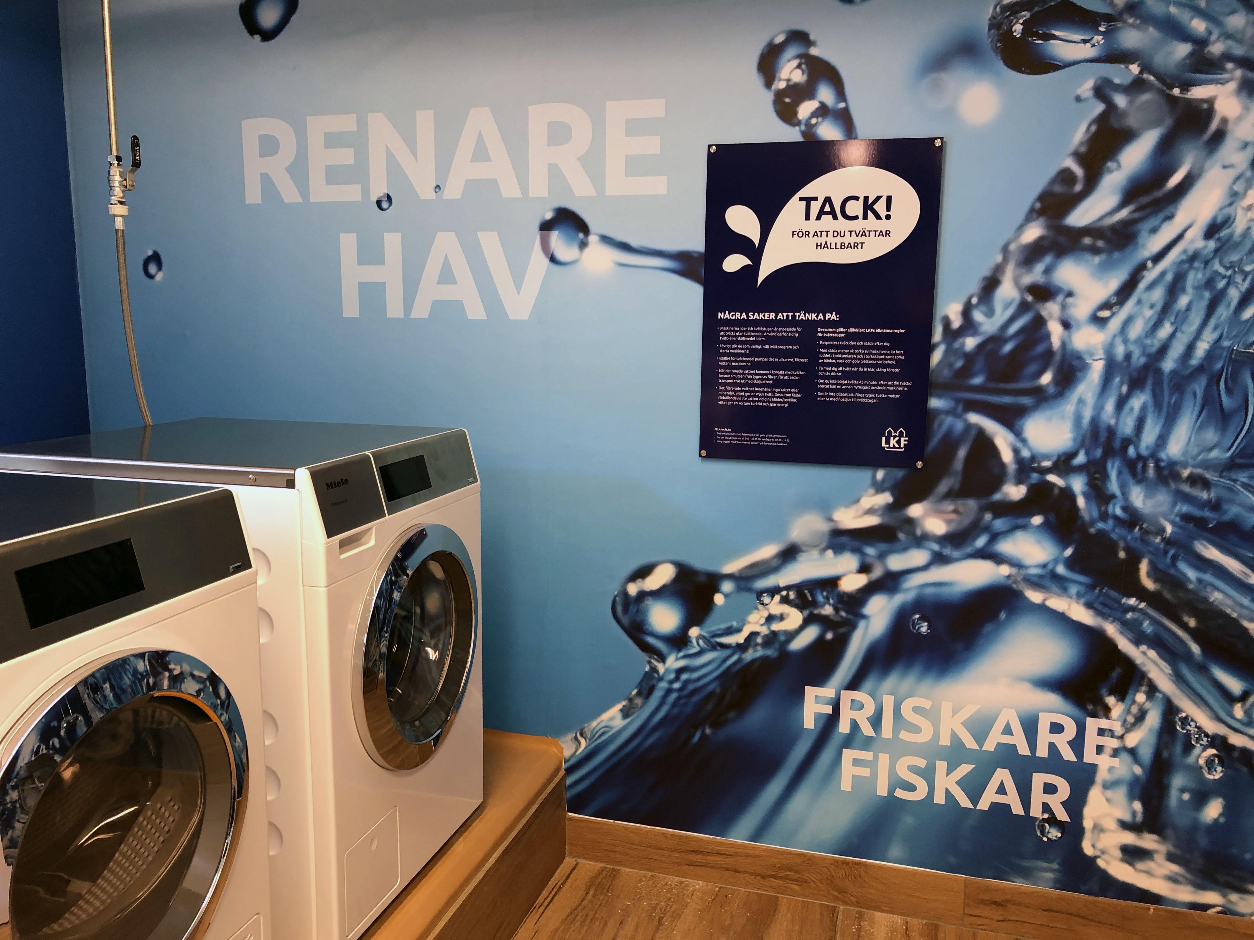 LKFs första tvättmedelsfria tvättstuga.