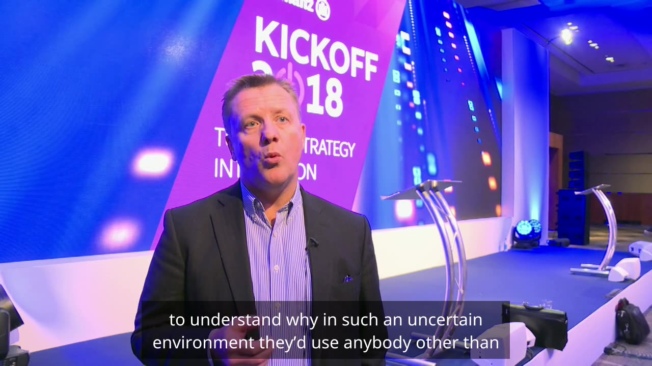 Simon McGinn on some of the priorities for Allianz in 2018