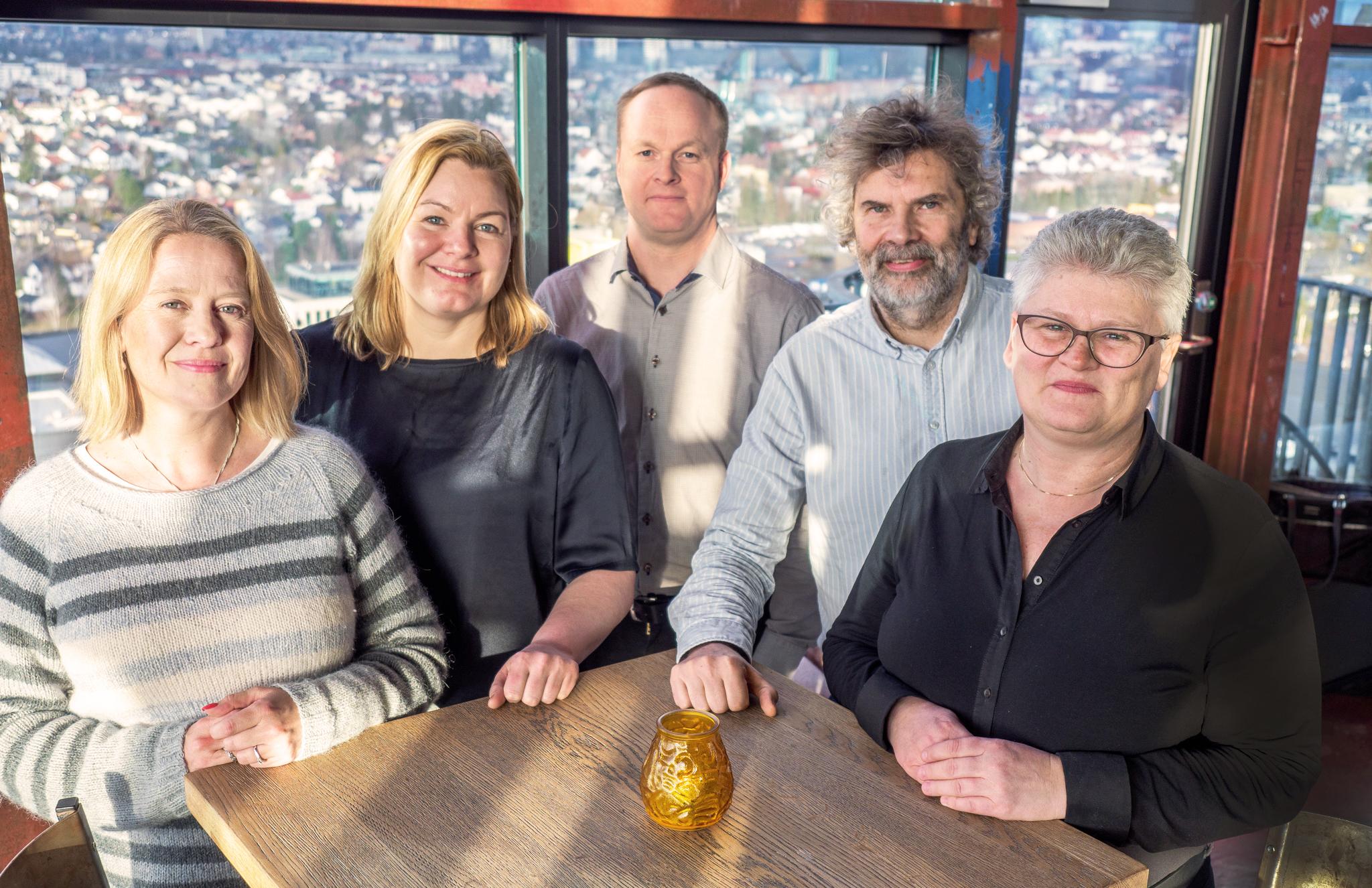 Kiwas revisjonsteam innen mattrygghet: (f.v.) Line Thorsdalen, Torill Strand, Are Lind, Morten Berntsen og Ane Grete Larsen.