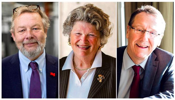 Peter Wallenberg Jr, Mary Walshok och Jan-Eric Sundgren (Bild från IVA)
