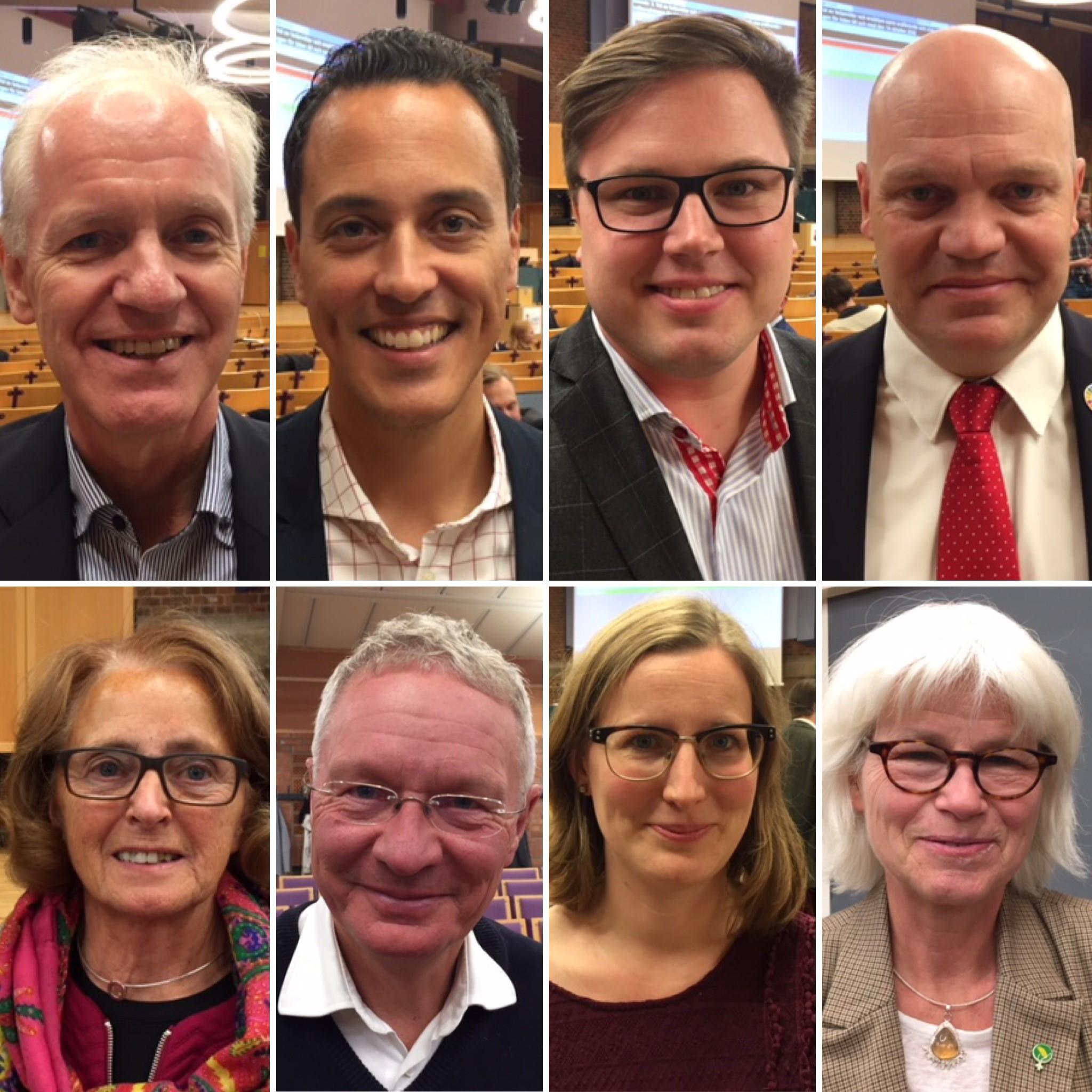 Mats Helmfrid (M), Philip Sandberg (L), Fredrik Ljunghill (M),  Anders Almgren (S), Inga-Kerstin Eriksson (C), Börje Hed (FNL), Fanny Johansson (S), Karin Svensson Smith (MP)