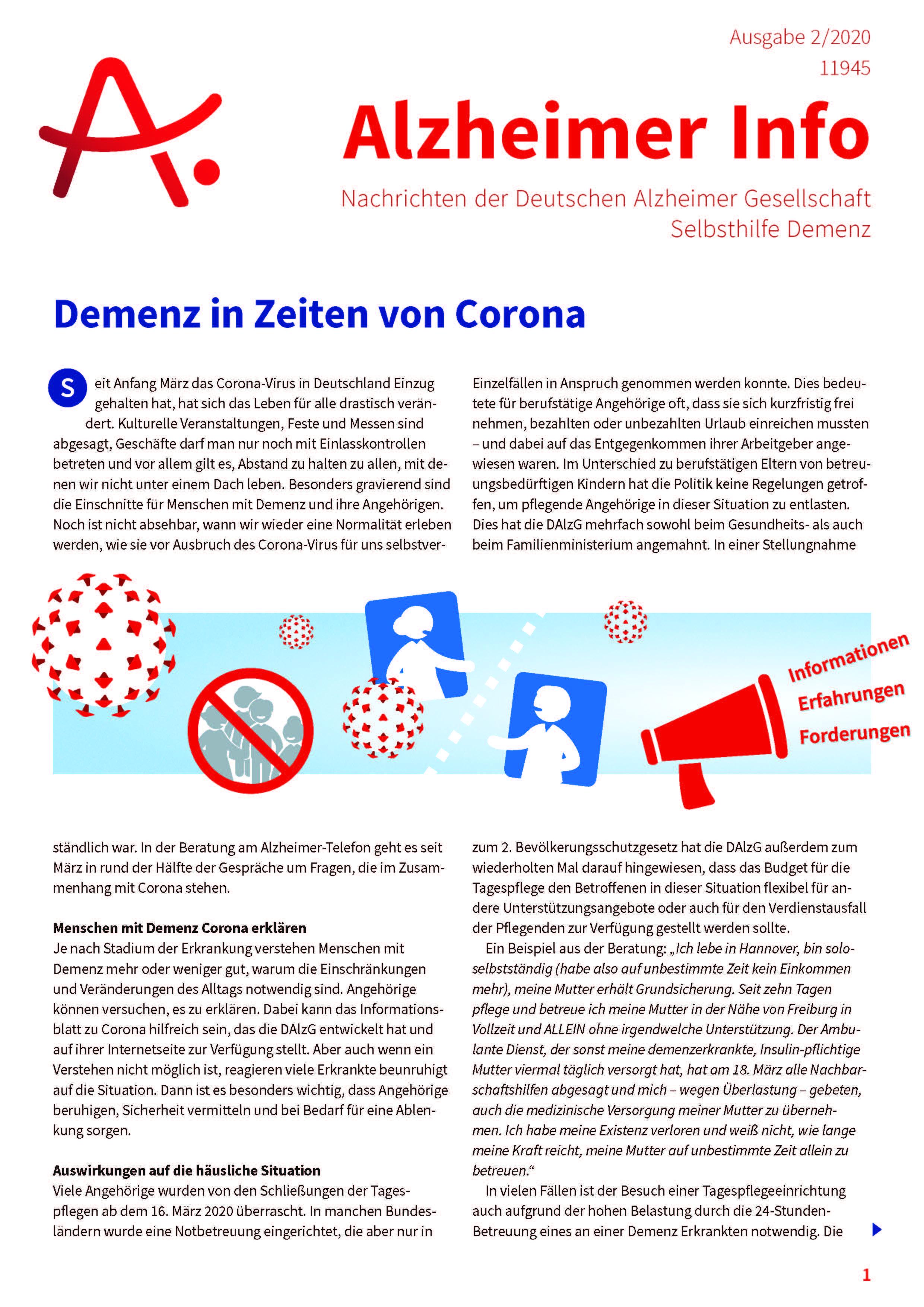 Cover Alzheimer-Info