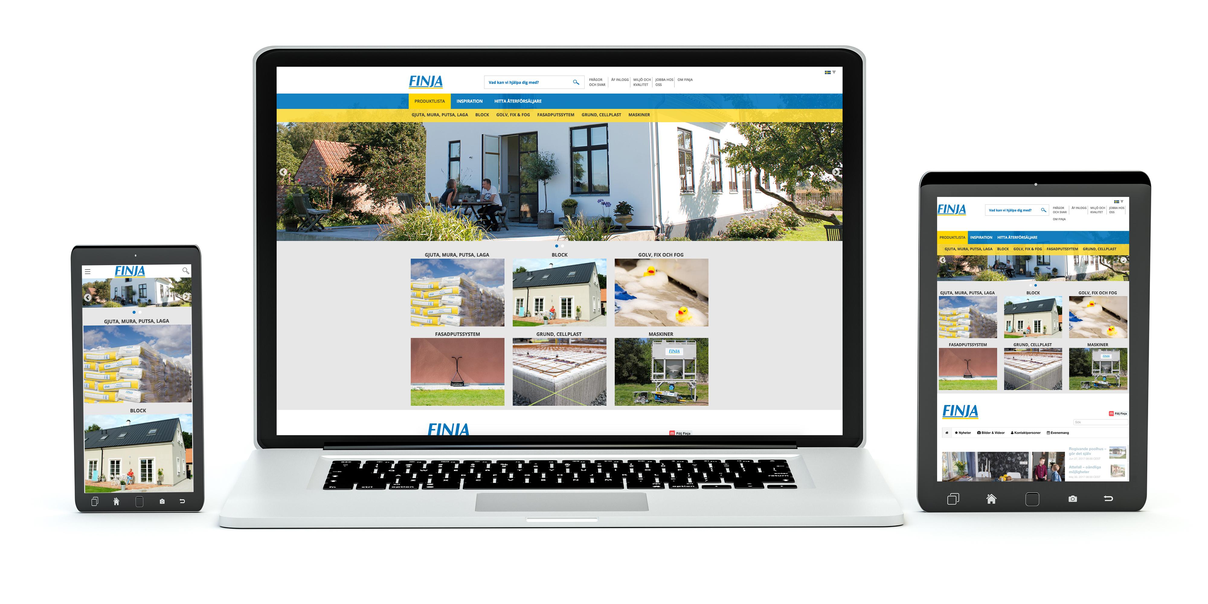 Finja Betongs webbplats