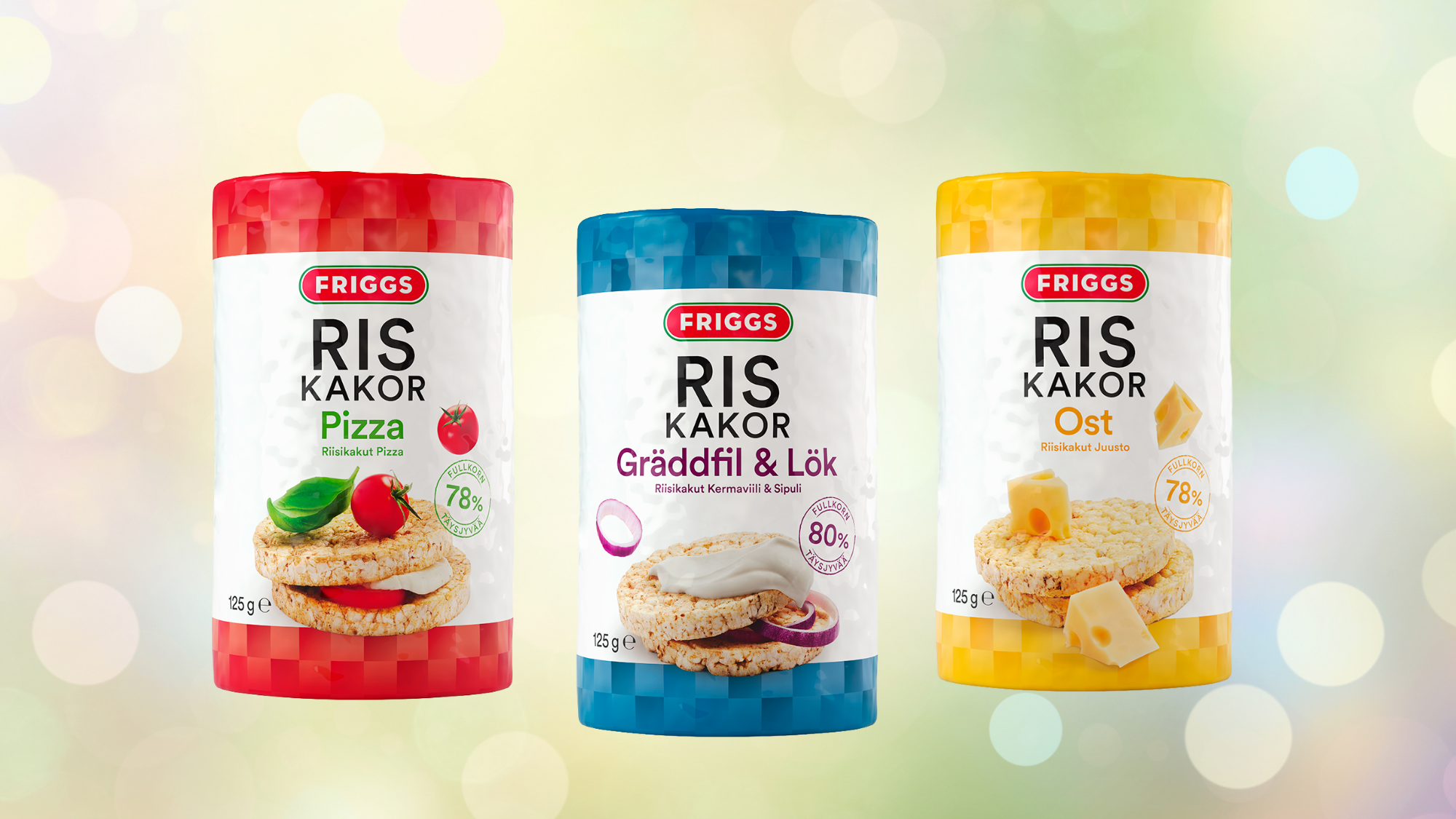 UUDISTUS! Friggs maustetut riisikakut saivat uuden, selkeämmän pakkausilmeen!