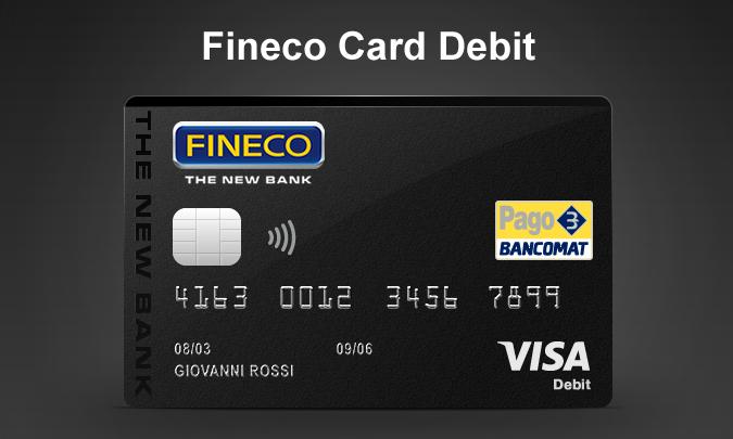 Circuito V Pay : Fineco card debit