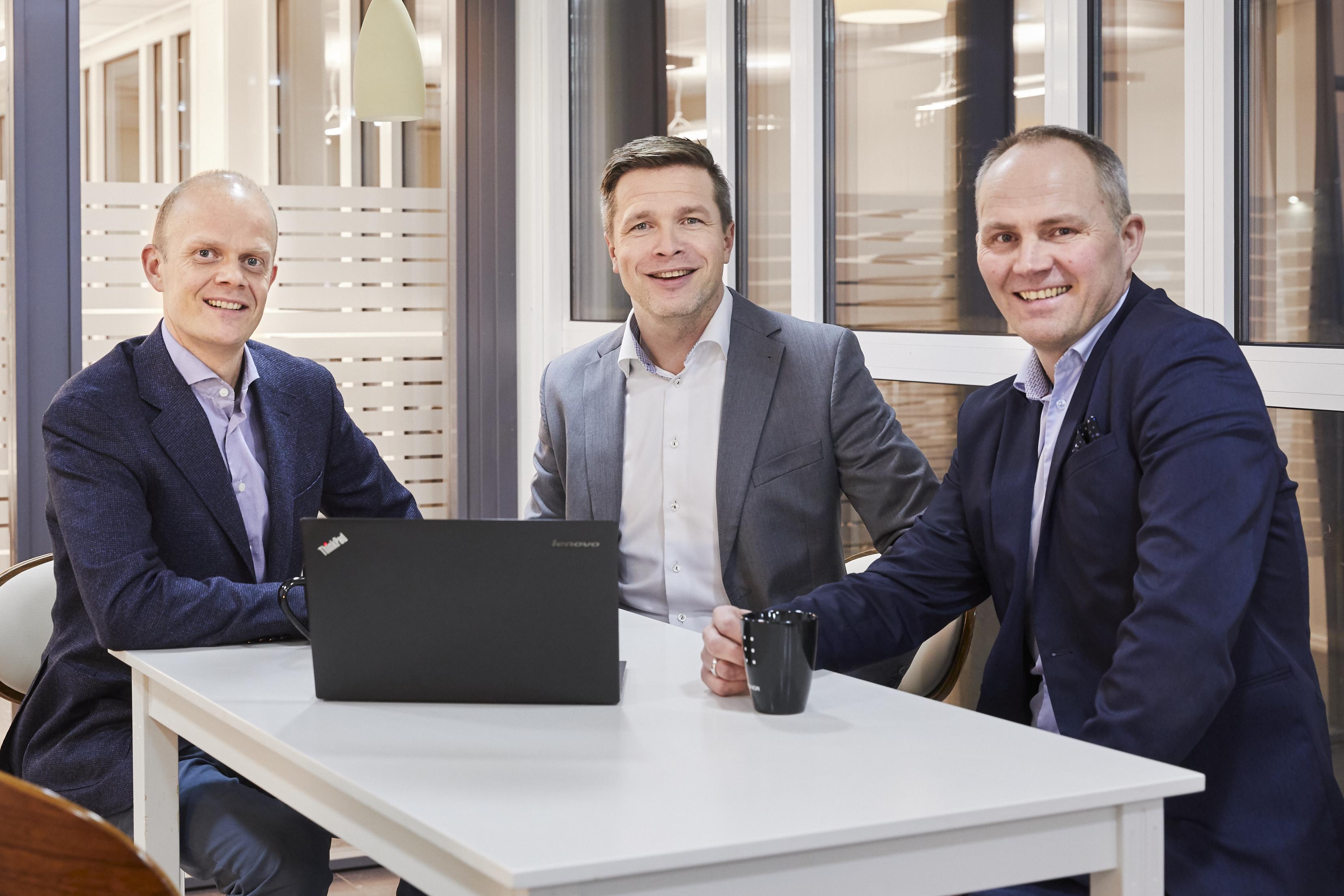 Fra venstre: Preben Wiksèn, Torben Torbjørnsen og Fritz Hansen