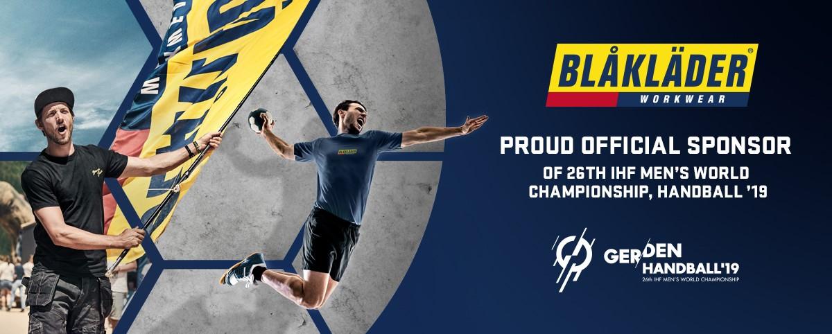 9702f373 Blåkläder stolt sponsor av håndball-VM 2019
