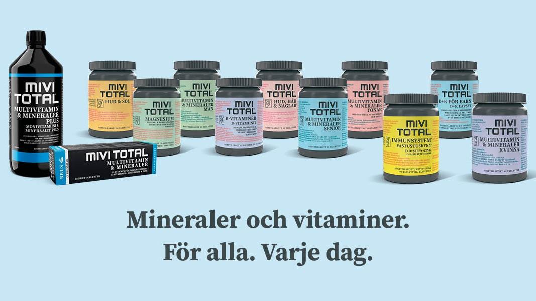 Mivitotal storsatsar - nytt sortiment av kosttillskott och ny design!