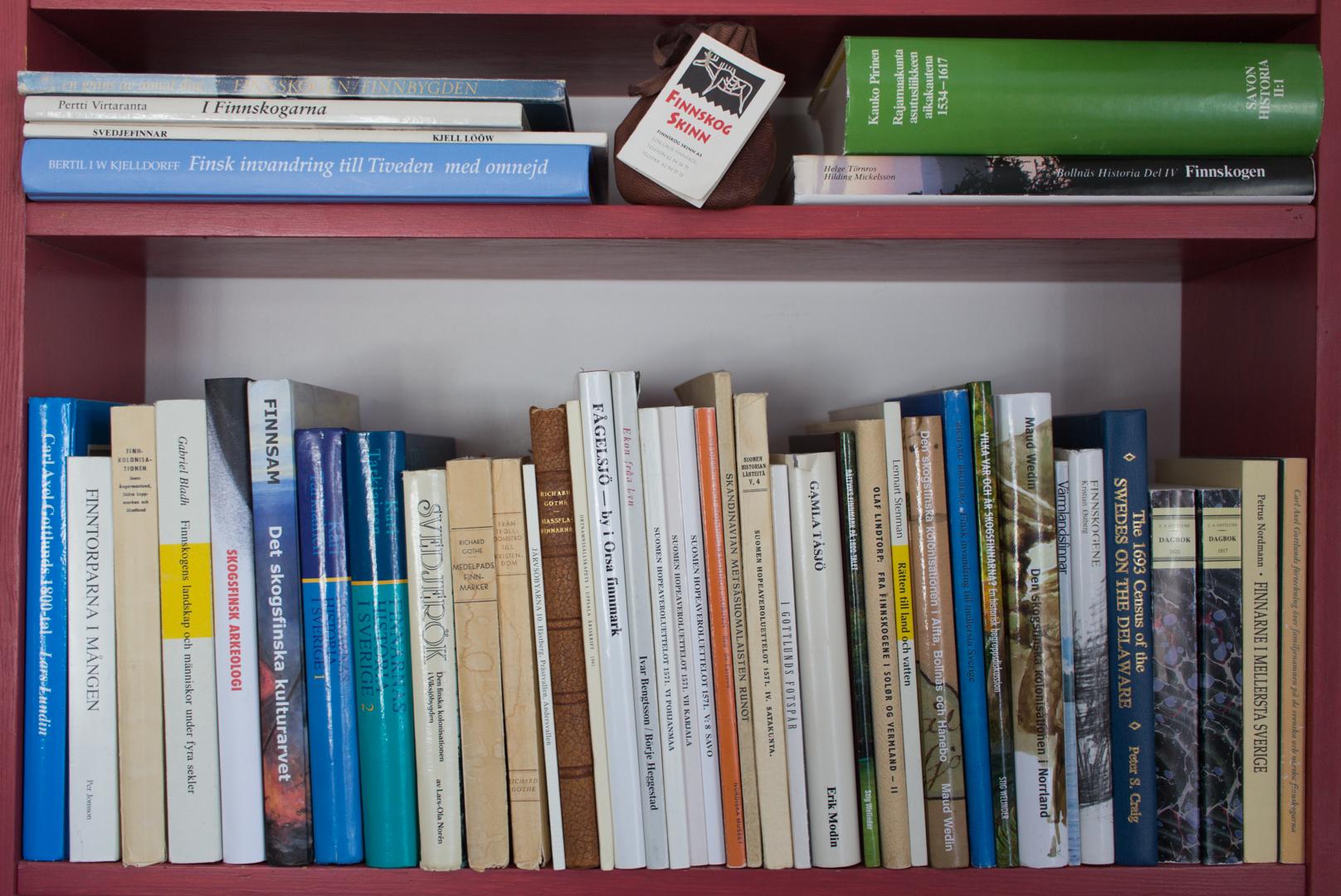 """Finnsams projekt """"Det skogsfinska biblioteksprojektet"""" som beviljades utvecklingsmedel från Region Dalarna 2018."""