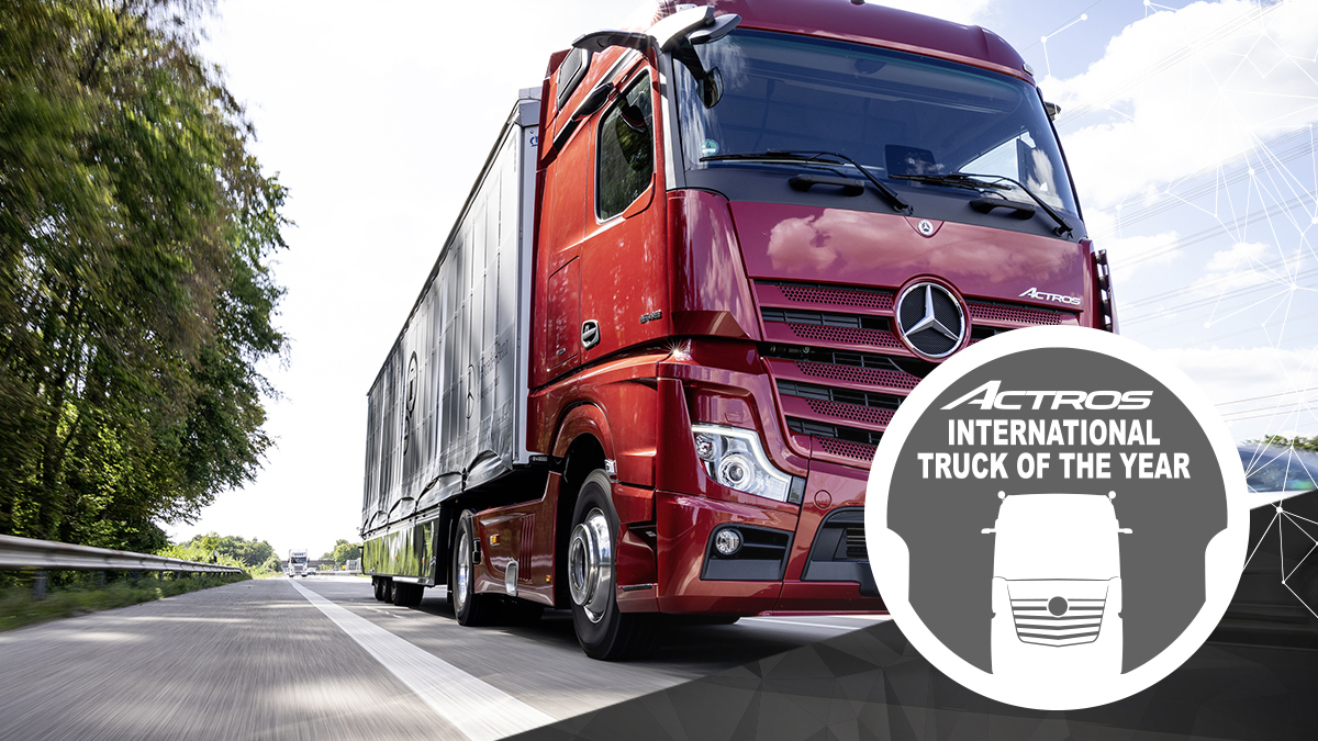 "Nya Mercedes-Benz Actros utsedd till ""Truck of the Year 2020"""