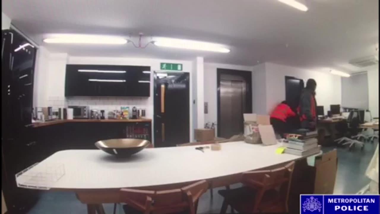 CCTV footage of commercial burglary in Hackney
