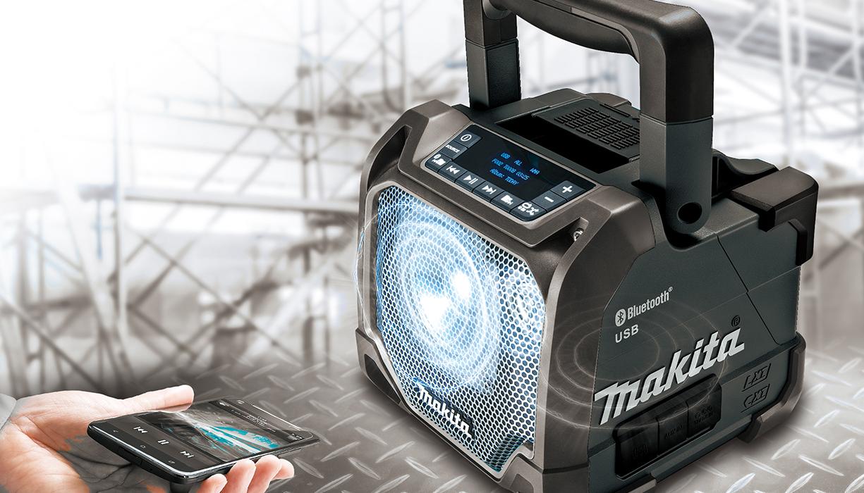 Makita lanserar ny 1218V Bluetooth högtalare Makita Sverige