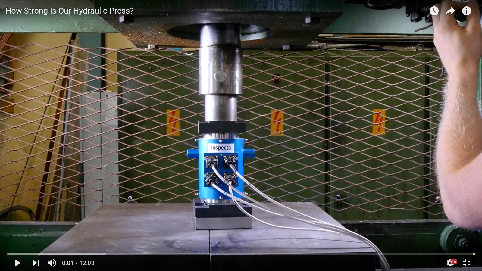 Press Channelin videolla mitataan kuinka suurella voimalla Press Channelin voimalaite murskaa tavaroita.