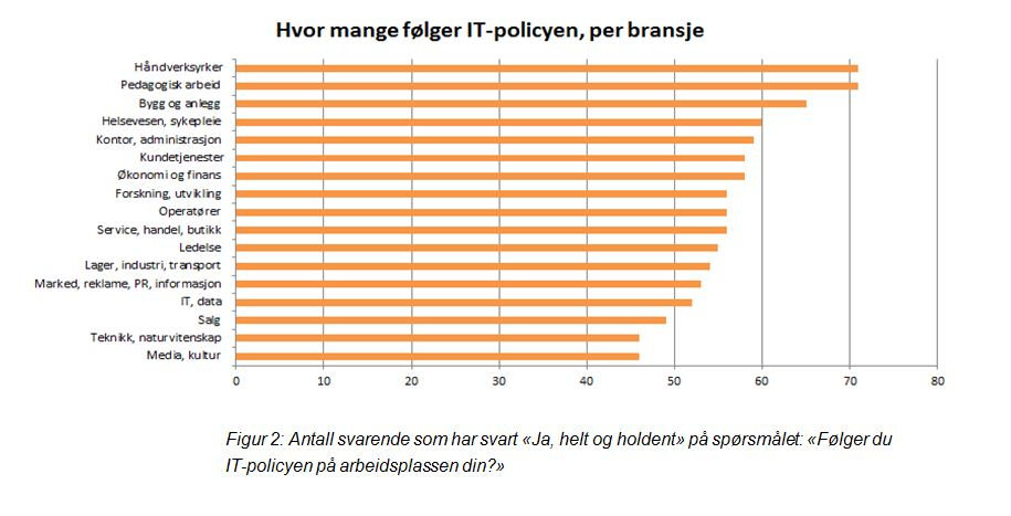 IT-policy, per bransje
