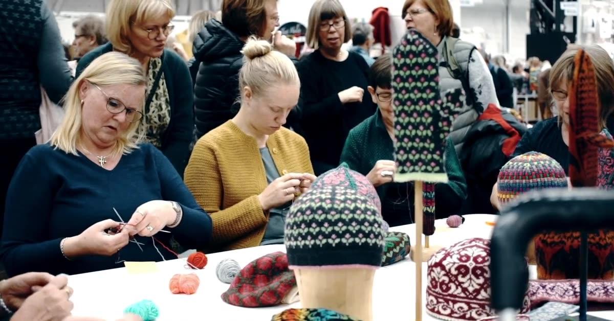 Ovanliga tekniker lärs ut på Sy- och Hantverksfestivalen på Stockholmsmässan 26–28 oktober