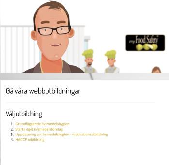 Webbutbildningar på Food Safety AB