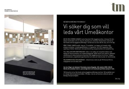 TM Konsult söker kontorschef till Umeå