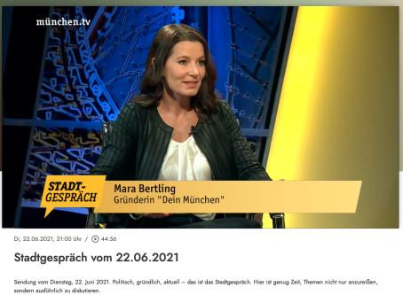 Mara Bertling im STADTGESPRÄCH bei MÜNCHEN TV