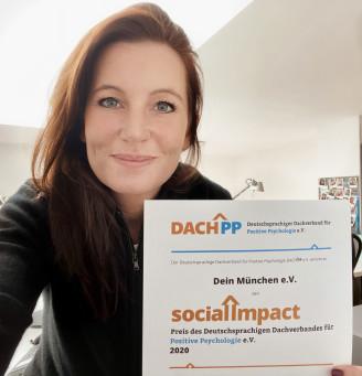 DEIN MÜNCHEN wird mit dem Social Impact-Preis des Deutschsprachigen Dachverbands für Positive Psychologie e.V. ausgezeichnet