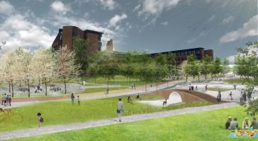 Planlagt praktpark i Lillestrøm