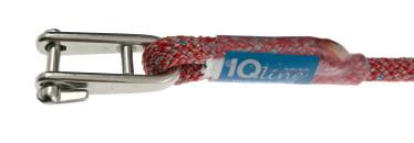 Bild med länk till högupplöst bild PolyRopes PROline - grå/röd med isydd schackel