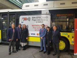 El pago con Visa llega a los autobuses públicos de Madrid