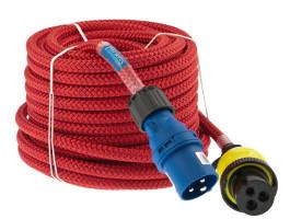 Bild med länk till högupplöst bild Strömkabel ELLINOR röd med CEE- och Ratio-kontakt
