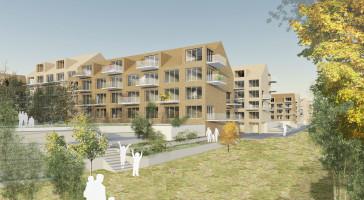Boet Bostad och LINK arkitektur utvecklar klimatsmarta hyresrätter i centrala Ängelholm