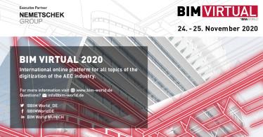 Starke Präsenz der Nemetschek Group bei der BIM Virtual 2020