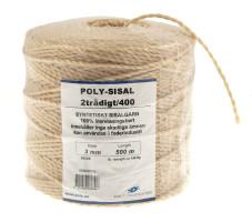 Bild med länk till högupplöst bild Poly-Sisal 2/400 syntetiskt sisalgarn
