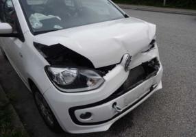 Biluheld eneulykke skade