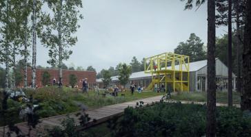 Tävlingsvinst till LINK Arkitektur för skola i värmländska Kyrksten