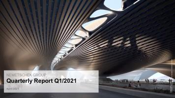 Nemetschek SE: Gelungener Jahresauftakt 2021 im Q1 mit operativ zweistelligem Umsatzwachstum und hohem Margenniveau