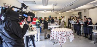 Fejring på Holstebro Mejeri med deltagelse af borgmester HC Østerby