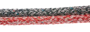 Bild med länk till högupplöst bild PolyRopes Fall-/Skotlina Poly-Braid-24, vit-navy och vit-röd