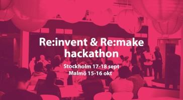 Inbjudan till Re:invent & Re:make hackathon för cirkulär inredning