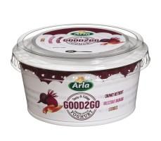 Good2Go yoghurt med rødbede, rabarber og lakrids