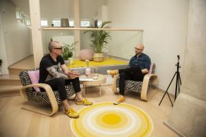 Henkka Hyppönen ja Lauri Reuter studiossa