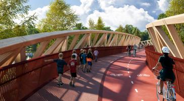 LINK Arkitektur vant konkurranse om gang- og sykkelbru i Lillestrøm