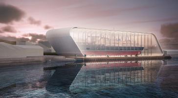 Skisseprosjekt for nytt hurtigrutemuseum og vernebygg for skipet Finnmarken er presentert