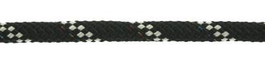 Bild med länk till högupplöst bild PolyRopes Poly-Braid-32 svart med vit kod