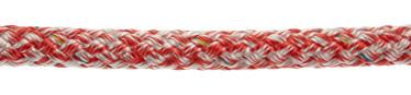 Bild med länk till högupplöst bild PolyRopes Fall-/Skotlina Poly-Braid-24, vit-röd