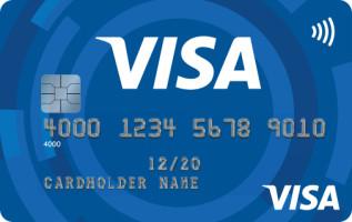 Visa Muster-Kreditkarte kontaktlos